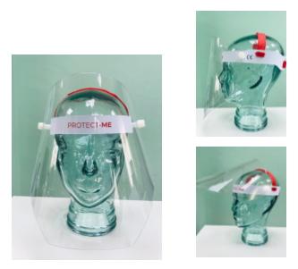 Pantalla protección facial ligera